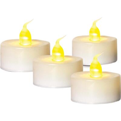 J Hofert 1.5 In. H. x 1.5 In. Dia. White Plastic Tea Light Flameless Candle (4-Pack)