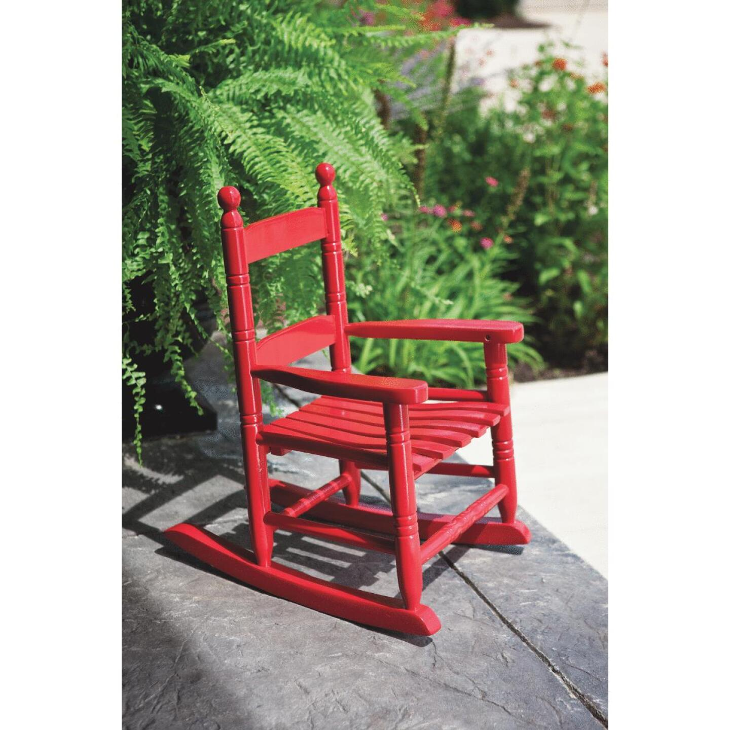 Knollwood Red Wood Child Rocking Chair Image 3