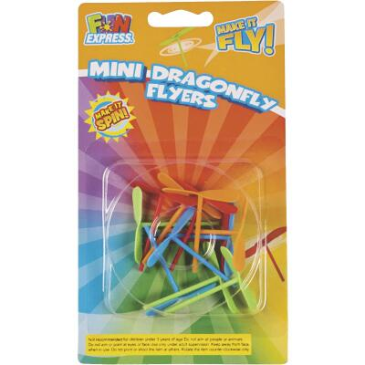 Fun Express Mini Dragonfly Flyers (12-Pack)