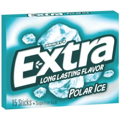 Extra Peppermint Polar Ice Gum (15-Piece)