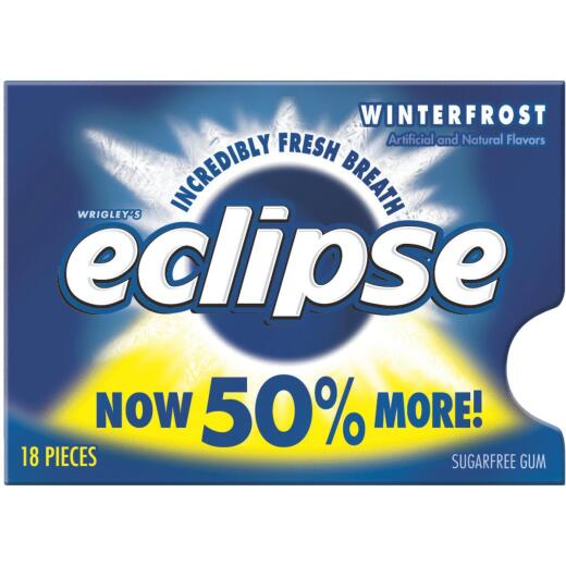 Eclipse Peppermint Winterfrost Chewing Gum (18-Piece)